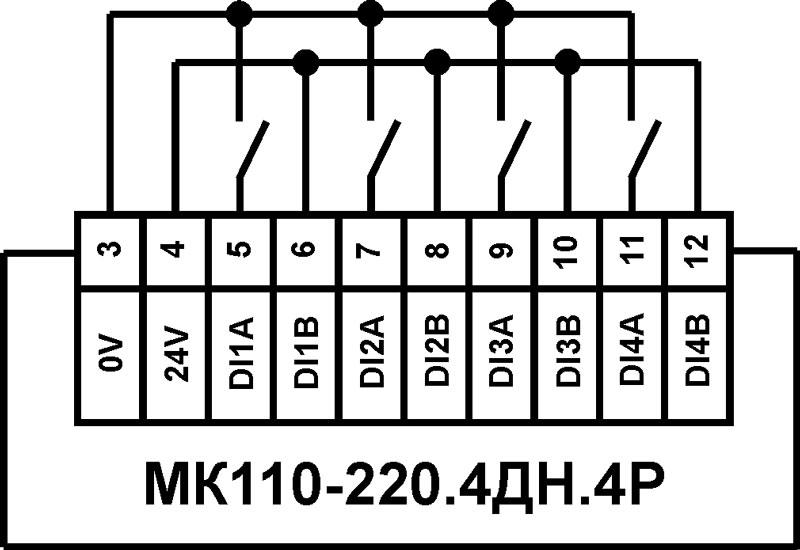 Схема подключения к ВЭ типа