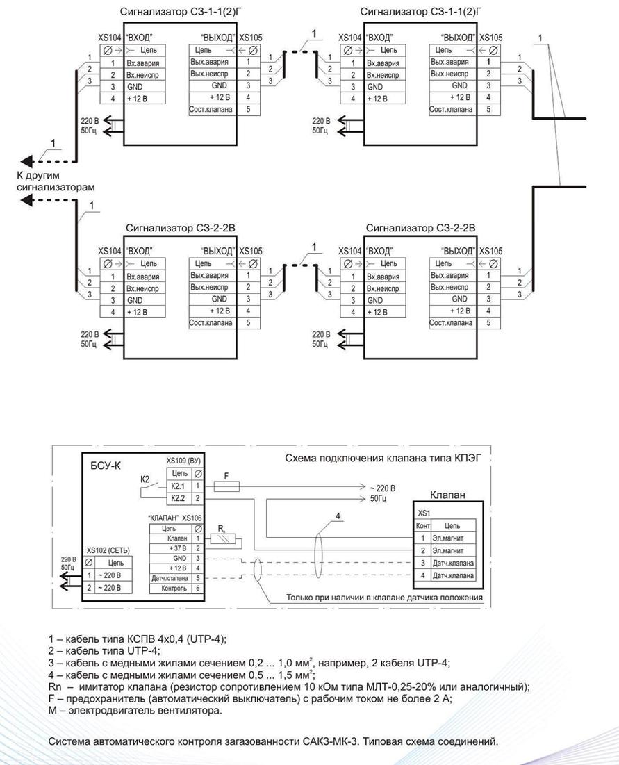система сакз мк 2 схема